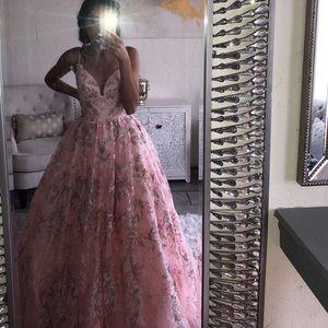 Blush ball gown